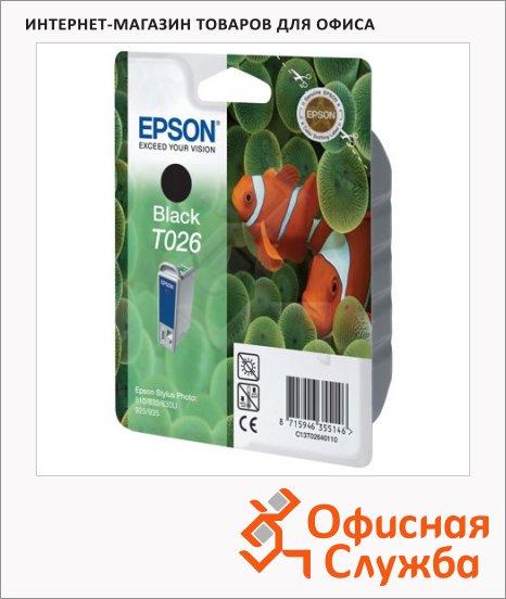 Картридж струйный Epson C13 T026401, черный