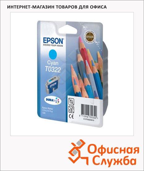 фото: Картридж струйный Epson C13 T032240 голубой
