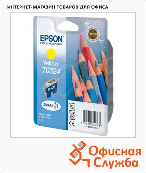 Картридж струйный Epson C13 T032440, желтый