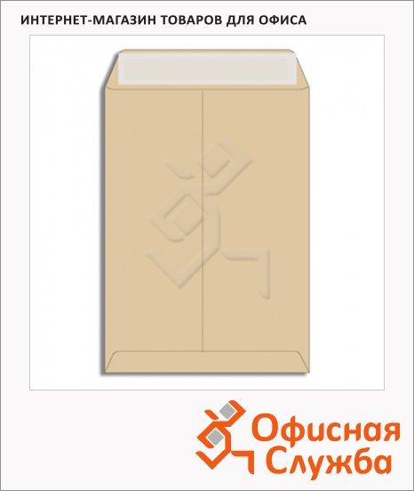 Пакет почтовый бумажный плоский Multipack B4 крафт, 250х353мм, 100г/м2, стрип, 200шт