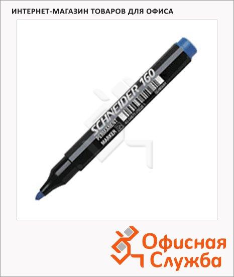 фото: Маркер перманентный Schneider 160 синий 1-3мм, круглый наконечник