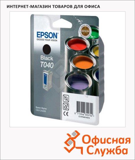 Картридж струйный Epson C13 T0401 4010, черный