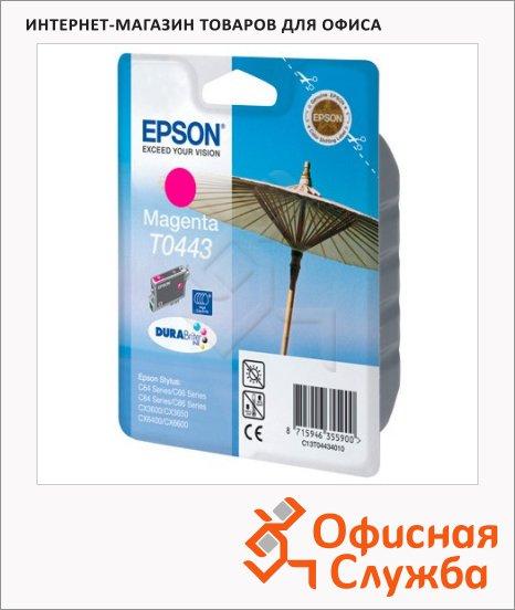 Картридж струйный Epson C13 T044340, пурпурный