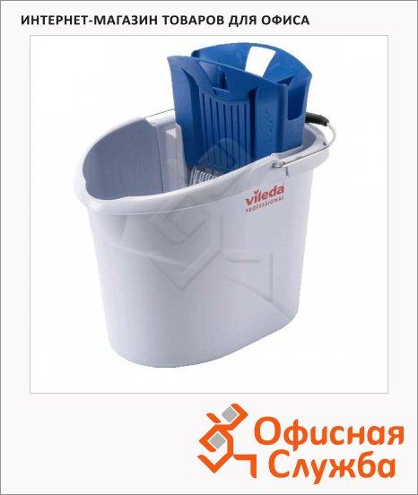фото: Ведро с отжимом Vileda Pro УльтраСпид Мини 10л, 129686, синий