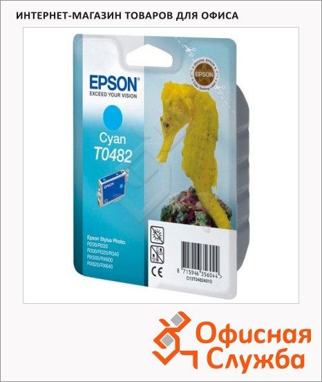 Картридж струйный Epson C13 T048240, голубой