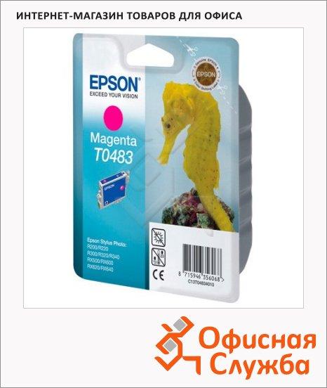 Картридж струйный Epson C13 T048340, пурпурный