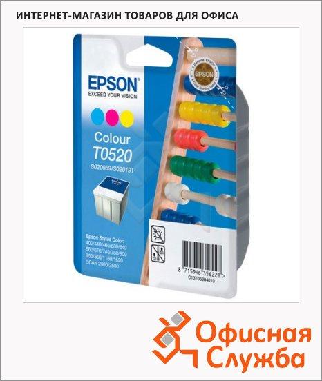 Картридж струйный Epson C13 T05204010, 3 цвета