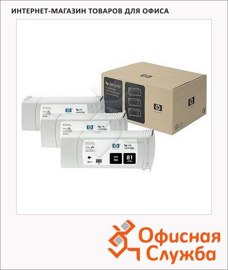 Картридж струйный Hp 81 C5066A, черный, 3шт/уп