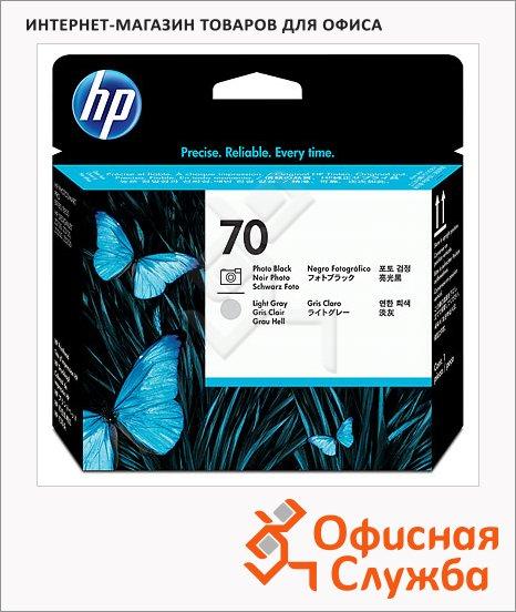 фото: Печатающая головка Hp 70 C9407A черная+светло-серая