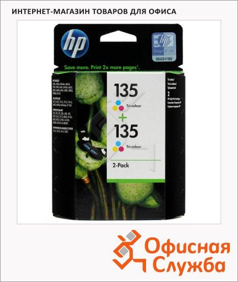Картридж струйный Hp 135 CB332HE, 3 цвета, 2шт/уп