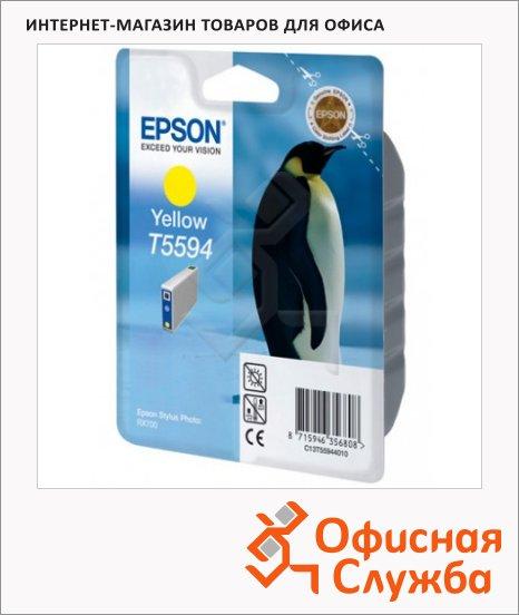 Картридж струйный Epson C13 T5594 4010, желтый
