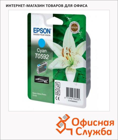 Картридж струйный Epson C13 T059240, голубой