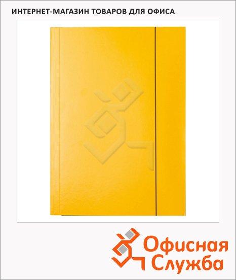 Картонная папка на резинке Esselte желтая, А4, до 400 листов, 13438