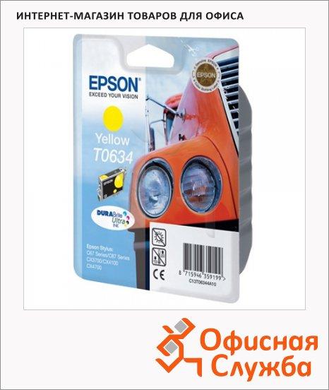 Картридж струйный Epson C13 T06344 A10, желтый