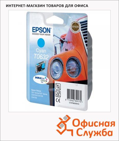 Картридж струйный Epson C13 T06324 A10, голубой