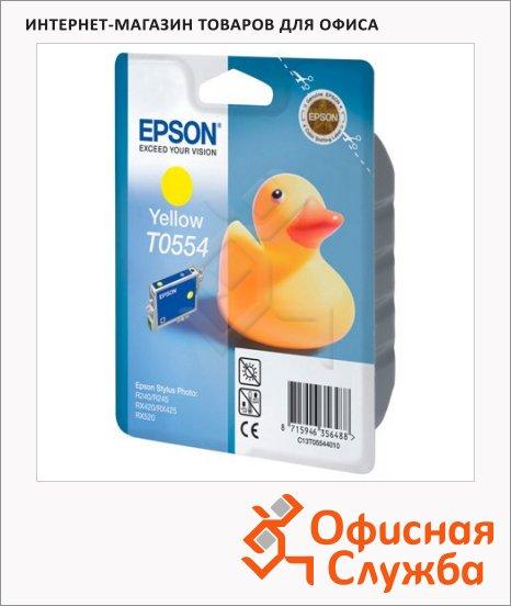 Картридж струйный Epson C13 T055440, желтый