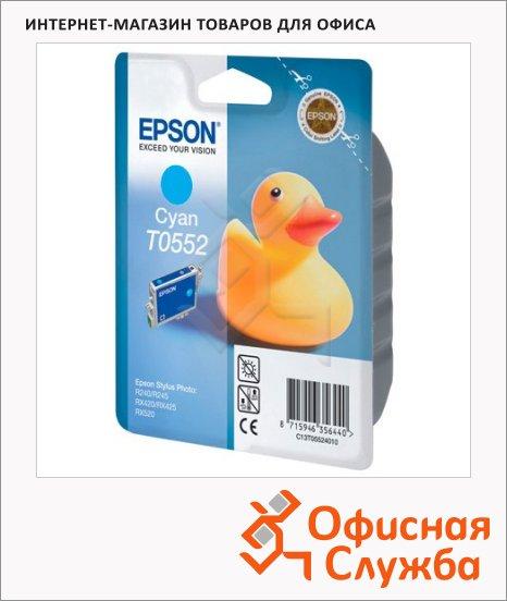 фото: Картридж струйный Epson C13 T055240 голубой