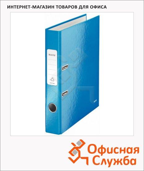 Папка-регистратор А4 Leitz 180° Wow синяя, 50 мм, 10060036