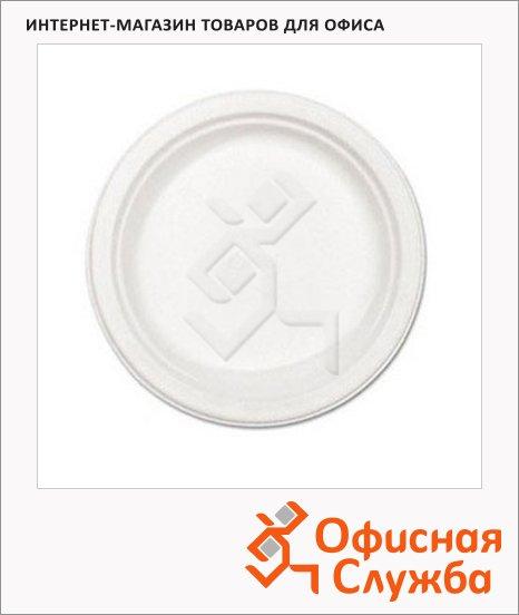 Тарелка одноразовая Huhtamaki белая, 100шт/уп, d=16см