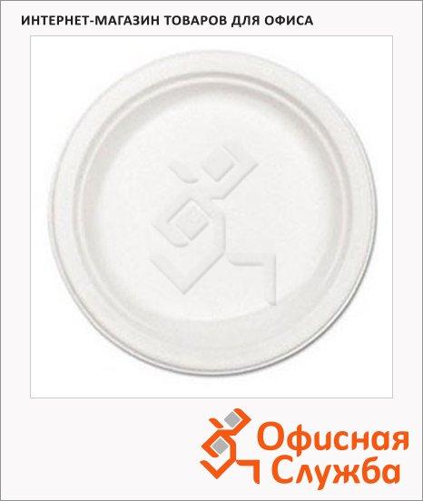 Тарелка одноразовая Huhtamaki белая, 100шт/уп, d=22см