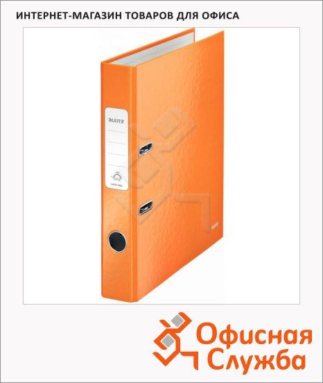 фото: Папка-регистратор А4 Leitz 180° Wow оранжевая 50 мм, 10060044