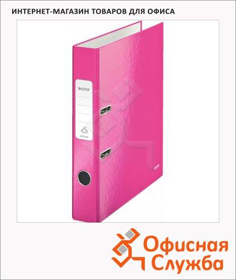 Папка-регистратор А4 Leitz 180° Wow розовая, 50 мм, 10060023