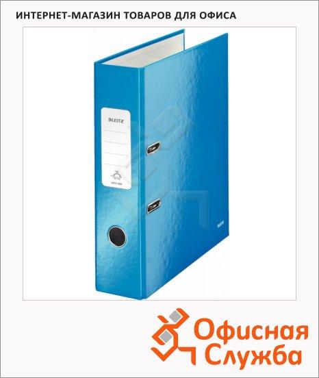 Папка-регистратор А4 Leitz 180° Wow синяя, 80 мм, 10050036