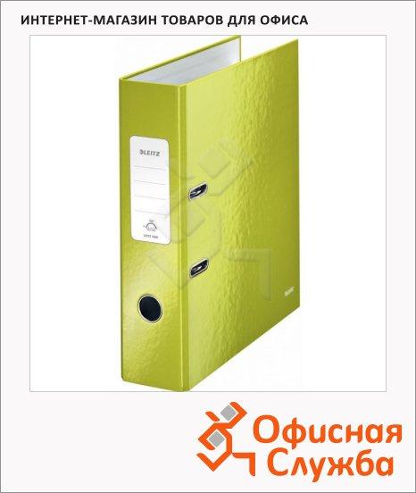 Папка-регистратор А4 Leitz 180° Wow зеленая, 80 мм, 10050064