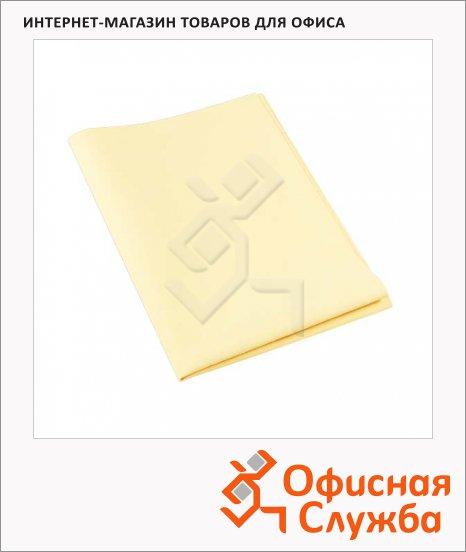 фото: Салфетка хозяйственная Vileda Pro МикроВиндоу желтая 38х60см, полиэстер-полиамид, 127375