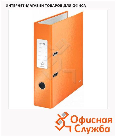 фото: Папка-регистратор А4 Leitz 180° Wow оранжевая 80 мм, 10050044