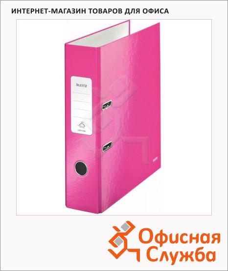 фото: Папка-регистратор А4 Leitz 180° Wow розовая 80 мм, 10050023