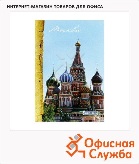 Тетрадь общая Attache Москва, А4, в клетку, на скрепке, 96 листов, мелованный картон