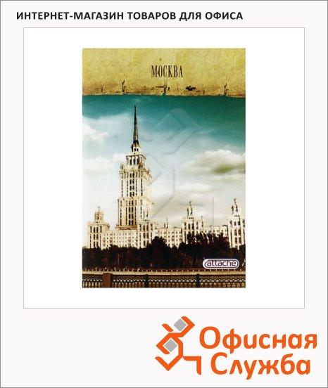 Тетрадь общая Attache Москва, А4, в клетку, на скрепке, 80 листов, мелованный картон/ лак