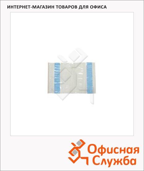 Пакет почтовый полиэтиленовый Suominen белый, 235х320мм, 100мкм, 250шт,  ZIP-Lock