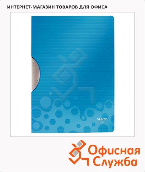 Пластиковая папка с клипом Leitz Bebop синяя, А4, до 30 листов, 41830037