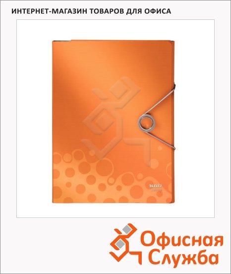 Пластиковая папка на резинке Leitz Bebop оранжевая, A4, до 150 листов, 45630045