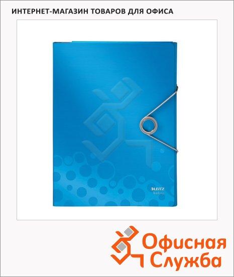 Пластиковая папка на резинке Leitz Bebop синяя, A4, до 150 листов, 45630037