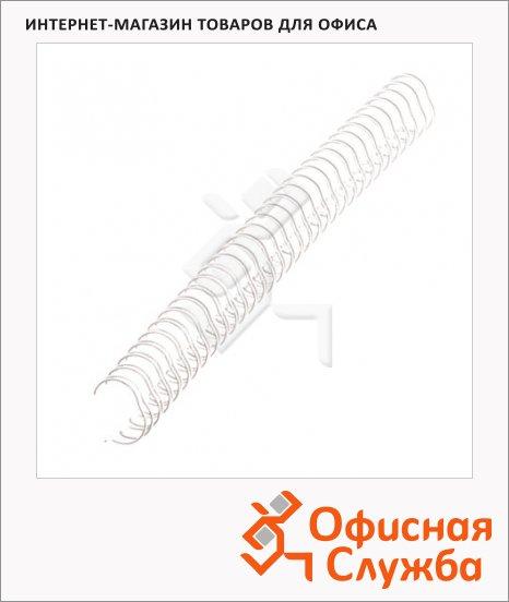 Пружины для переплета металлические Fellowes белые, на 1-30 листов, 6.4мм, 100шт, FS-53215