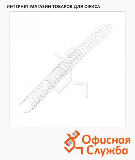 Пружины для переплета металлические Fellowes белые, на 36-50 листов, 8мм, 100шт, FS-53258