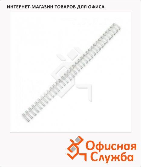 Пружины для переплета металлические Fellowes белые, на 81-100 листов, 12.7мм, 100шт, FS-53270