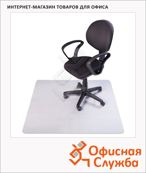 Коврик под кресло Rs-Office прямоугольный 1200х750мм, 1,9мм, для гладкой поверхности, ПКБ 12-075-O