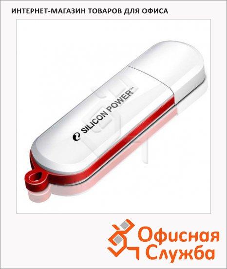 Флеш-накопитель Silicon Power Lux Mini 320 4Gb, 10/5 мб/с, бело-красный