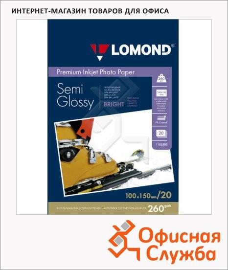 фото: Фотобумага для струйных принтеров Lomond А6 20 листов, 260г/м2, полуглянцевая, 1103302