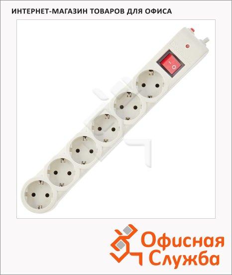 Сетевой фильтр Defender DFS-601 6 розеток, 1.8м, белый