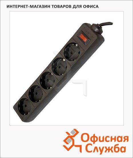 Сетевой фильтр Defender ES, 5 розеток, черный, 5м