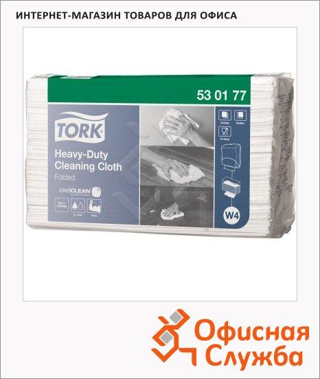 Протирочные салфетки Tork нетканые 530177, листовые, белые, 60 листов, 1 слой, 64.2х38.5см, повышенной прочности