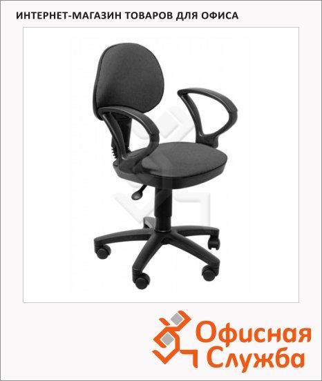 Кресло офисное Бюрократ CH-318AXN ткань, черная, крестовина пластик