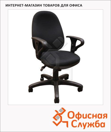 фото: Кресло офисное T-612-AXSN ткань черная, крестовина пластик