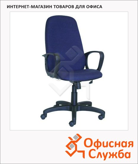 фото: Кресло руководителя Бюрократ CH-808AXSN ткань крестовина пластик, синяя, TW