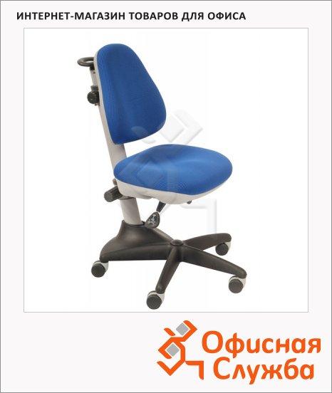 Кресло детское Бюрократ KD-2 ткань, крестовина пластик, синяя, серая